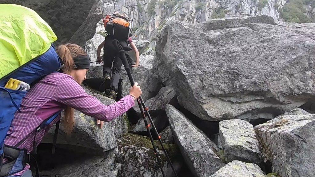 Abstieg Narrows Inlet